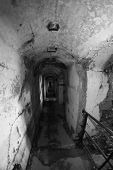 Internal Tunnel Connecting Of The Abandoned Sommo Fort Of World War I In Italy