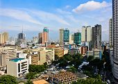 Aerial view on the skyline of Manila in the Philippines