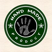 Hand Made Product Stamp