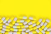 Capsule pills background