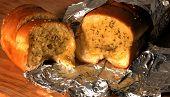 Opened Garlic Bread