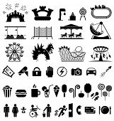 pic of funfair  - Amusement park icons - JPG