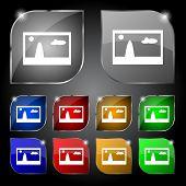 File JPG sign icon. Download image file symbol. Set colourful buttons. Modern UI website navigation