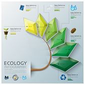 Leaf Shape Three Dimension Polygon Ecology And Environment Infographic