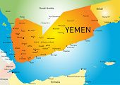 Vector color map of Yemen