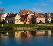 Minsk, Belarus - October, 2014: Traetskae Pradmestse (Trinity Suburb) - historical center of Minsk