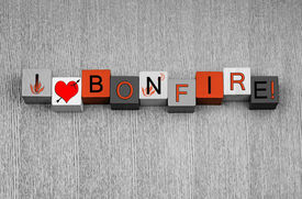 pic of guy fawks  - I Love Bonfire sign for Bonfire or Guy Fawkes Night with fire icons - JPG