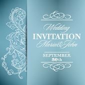 Wedding invitation card with floral elements