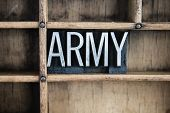 Army Concept Metal Letterpress Word In Drawer