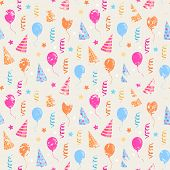 Happy birthday grunge pattern