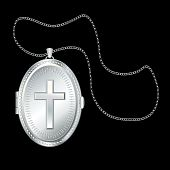 Silver Cross Locket