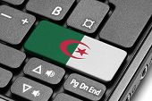 Go To Algeria! Computer Keyboard With Flag Key.