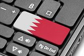 Go To Bahrain! Computer Keyboard With Flag Key.