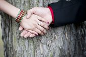 Indian Couple Engagement Hands