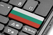 Go To Bulgaria! Computer Keyboard With Flag Key.