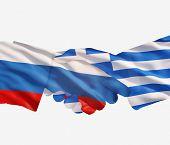 Russia Greece Handshake