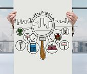Real Estate Icons On Poster