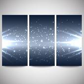 Abstract flash banners set, dark design vector illustration