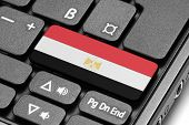 Go To Egypt! Computer Keyboard With Flag Key.