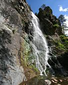picture of spearfishing  - waterfall in Spearfish Canyon in South Dakota - JPG