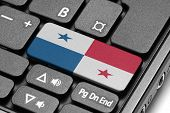 Go To Panama! Computer Keyboard With Flag Key.
