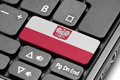 Go To Poland! Computer Keyboard With Flag Key.