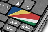 Go To Seychelles! Computer Keyboard With Flag Key.