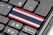 Go To Thailand! Computer Keyboard With Flag Key.