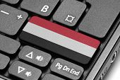 Go To Yemen! Computer Keyboard With Flag Key.