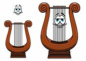 Cartoon greece musical lyre character