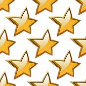 Golden stars seamless festive pattern