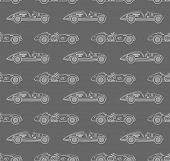 retro racing car pattern