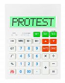 Calculator With Protest