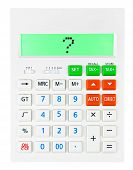 Calculator With Question Mark