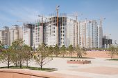 Construction Of Modern High-rise Apartment Complexes