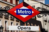 Metro Opera In Madrid