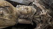 statue of queen Beatrice de Bourbon in  basilica of saint-denis