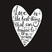 image of romantic  - Hand drawn typography poster - JPG