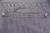 Close Up Of Back Pocket On Grey Jeans