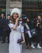 People Outside Jil Sander Fashion Show Building For Milan Women's Fashion Week 2015