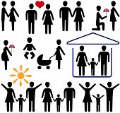 picture of person silhouette  - family history of love in the small pictures - JPG