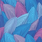 Color, Vector, Seamless, Repeating Pattern Of Stylized Seashells
