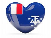 Heart Shaped Icon With Flag Of French Southern Territories