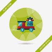 Shopping Cart Flat Icon With Long Shadow