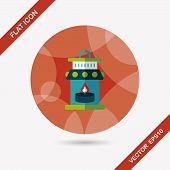 Christmas Lantern Flat Icon With Long Shadow,eps10