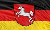 3D Lower Saxony Flag