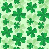 seamless clovers pattern
