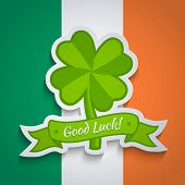 lover sticker on Irish flag