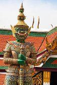 foto of budha  - Demon Guardian Wat Phra Kaew Grand Palace Bangkok - JPG
