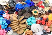 A Lot Of Color Buttons For Clothes